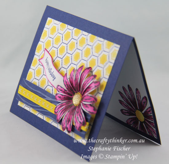 2017-18 Annual Catalogue, Sneak Peek, Daisy Delight, Hexagons, Embossing, #thecraftythinker, Stampin' Up Australia Demonstrator, Stephanie Fischer, Sydney NSW