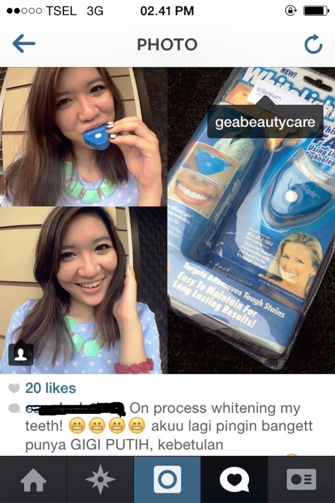 Perawatan Kulit Artis Murah Pemutih Gigi Artis Whitelight Teeth