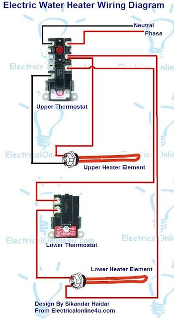 Electric Water Heater Wiring With Diagram | Electrical