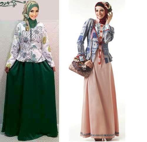 ッ 23 Model Baju Gamis Batik Kombinasi Blazer Cantik Dan Terpopuler