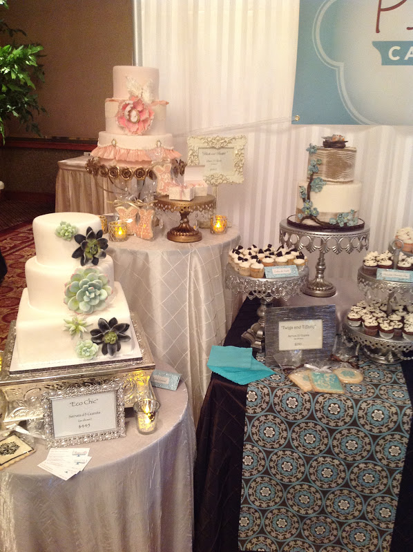 wedding cake bridal expo plumeria cake studio our bridal expo booth 22083