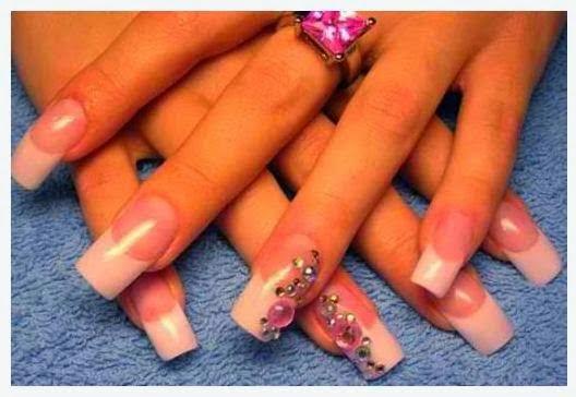 Acrylic natural baby pink nail art wedding idea | Fashion ...