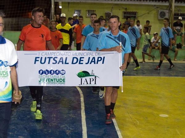Prefeitura realiza abertura do 1º Campeonato Municipal de Futsal de Japi