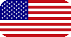Rounded flag of the United States of America (USA)