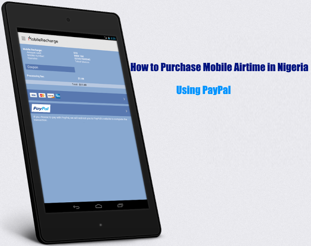 How to Purchase Mobile Phone Airtime in Nigeria Using PayPal
