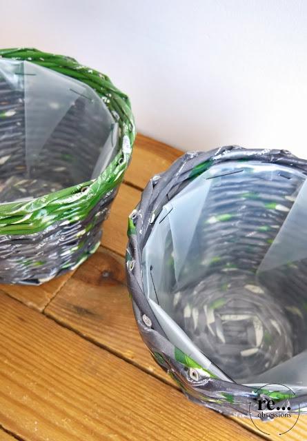 newspaper basket, wicker paper, basket, recycle, paper, papierowa wiklina, osłonka na doniczkę, koszyk