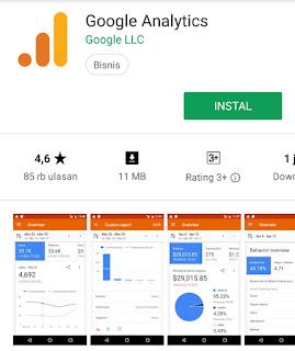 gambar aplikasi google analitycs