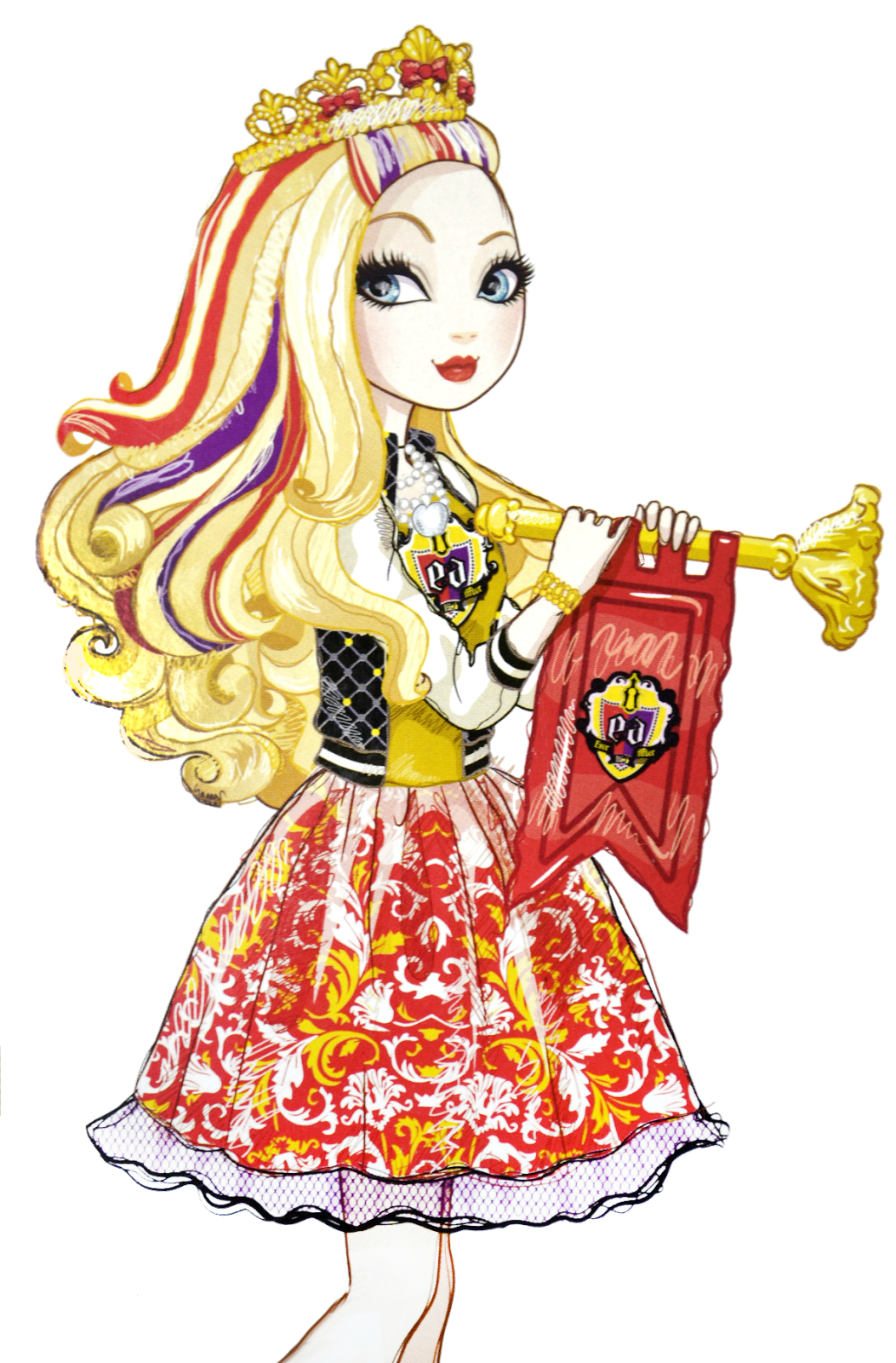 It is a picture of Slobbery Picture of Ever After High