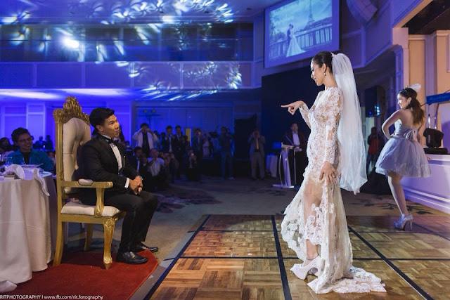 bride teasing