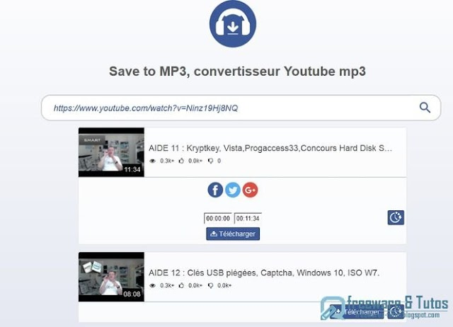 Save to mp3 : un service en ligne pour convertir Youtube en MP3