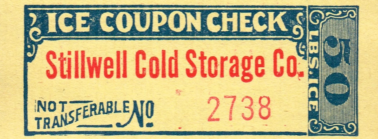 Antique Graphics Wednesday Ice Coupon Checks The History Behind