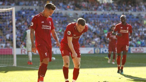 Berikut Arti Perayaan Gol Orang Tua James Milner 2019