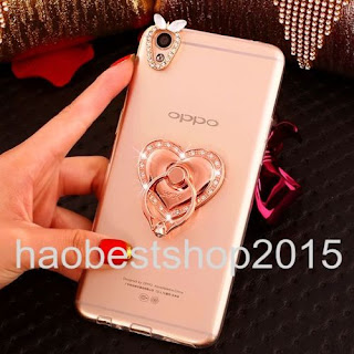 3D Diamonds Finger Ring Stand Holder 360-degree Rotation Case For Oppo Letv Moto