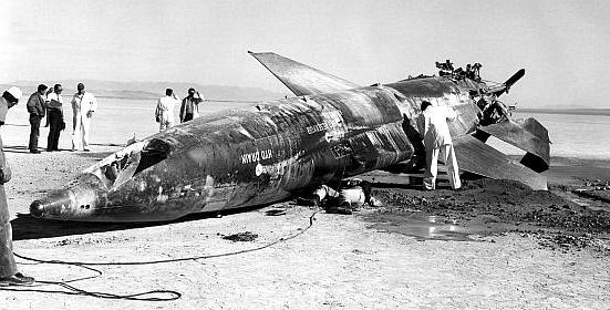 Accidente del avión más rápido del mundo. North American X-15