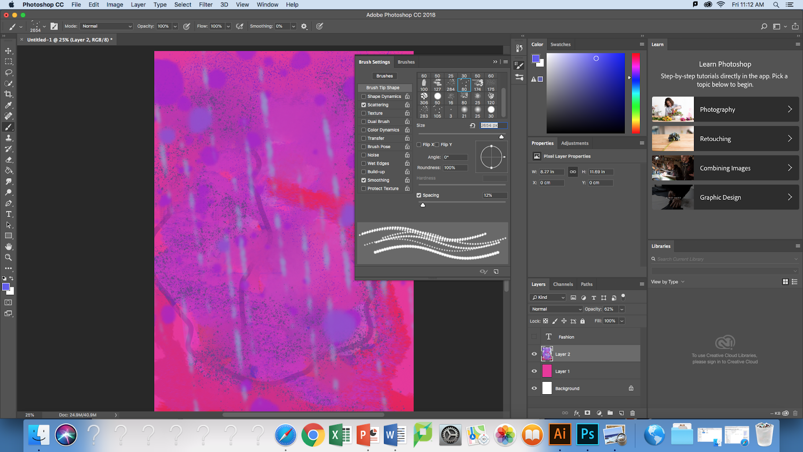 Photoshop : Digital Brush, Pasting one object into another, Double