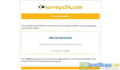 ndangan survey online dari Surveyo24 | SurveiDibayar.com