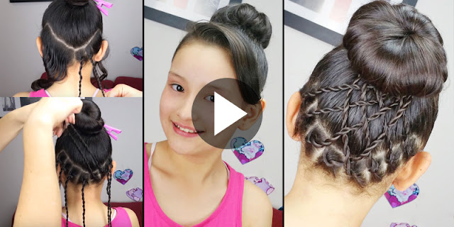 Learn - How To Make Simple Accented Bun Hairstyle, See Tutorial