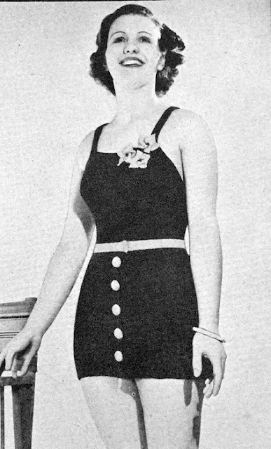 The Vintage Pattern Files: Free 1930's Knitting Pattern - Bathing Suit with Detachable Skirt