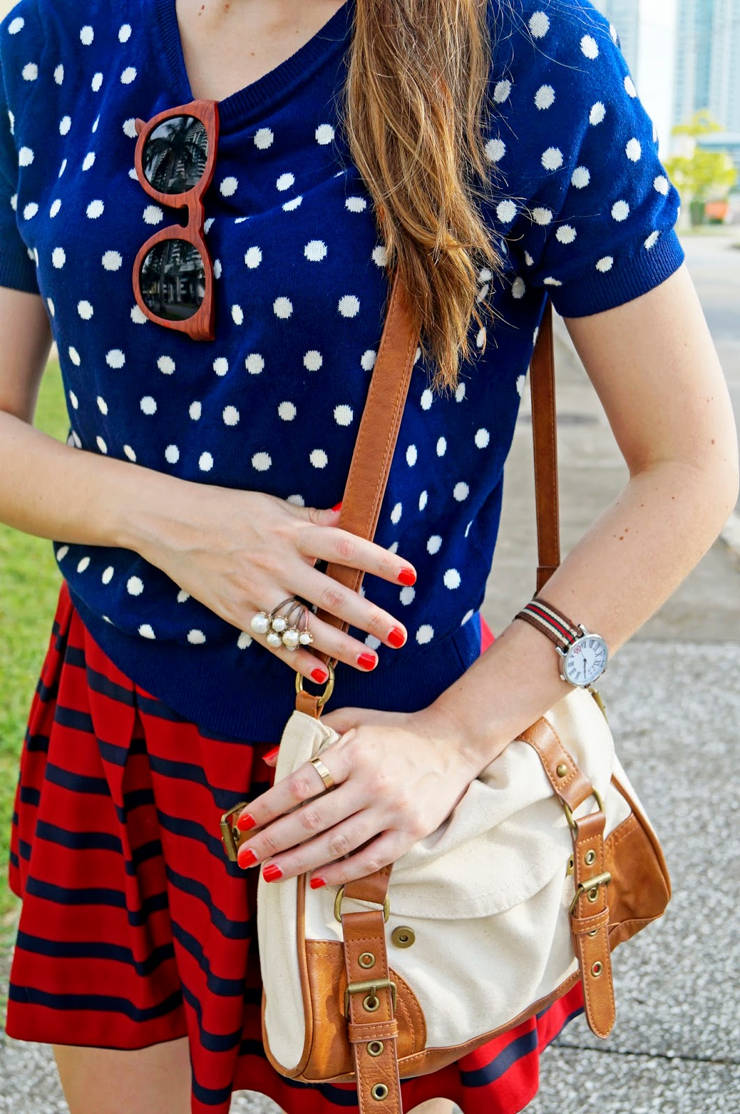 Preppy Outfit, with Pattern Mixing