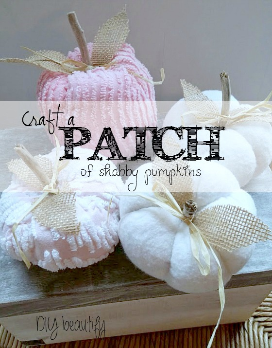 How to make shabby pumpkins from vintage fabric www.diybeautify.com