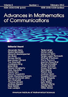 AMC - Advances in Mathematics of Communications