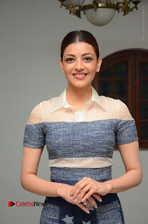 Actress Kajal Agarwal Latest Stills at Khaidi No 150 Movie Interview  0142.JPG