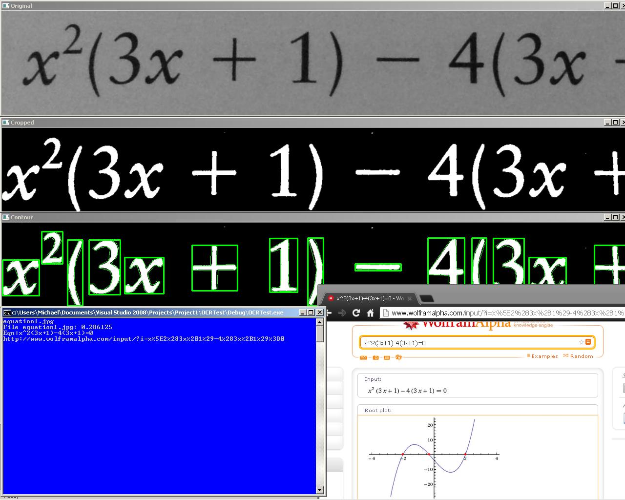 Equation OCR Tutorial Part 1: Using contours to extract