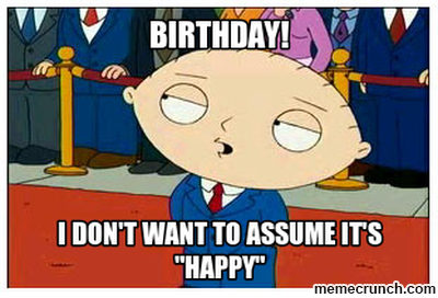 Happy birthday stewie