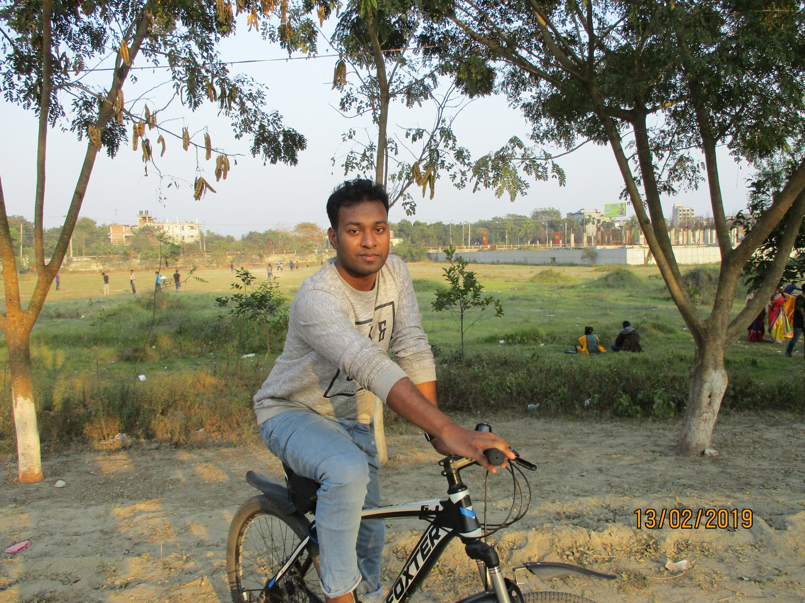 Elliyas Ahmed at BRUR Campus with his Favorited Bicycle