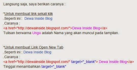 Cara Membuat Link pada Postingan Blog