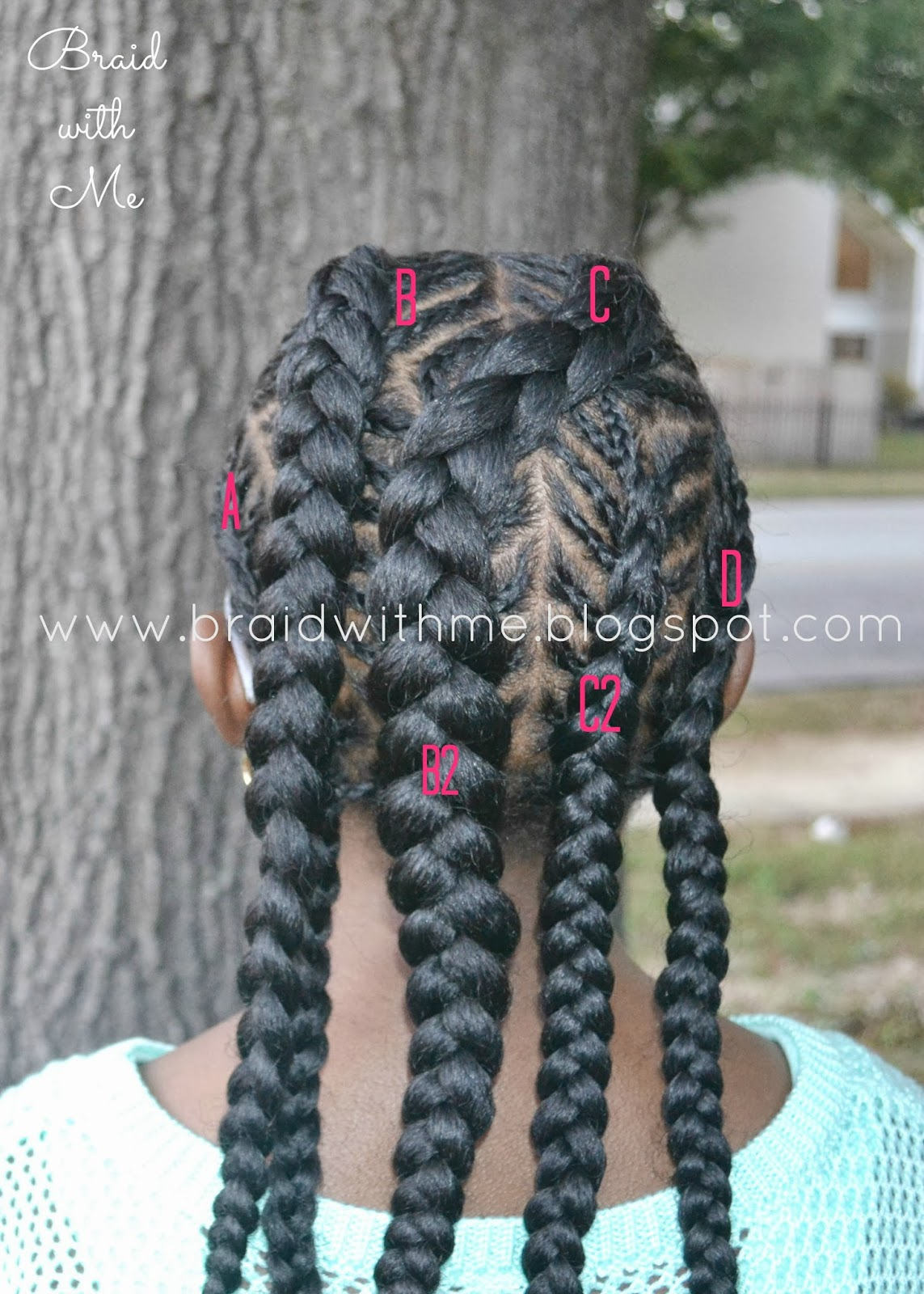 Braid With Me Natural Styles For Kids Fish Bone Cornrows