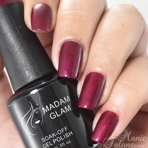 Madam Glam Gel Polish Shimmer Sexy Berry Swatch