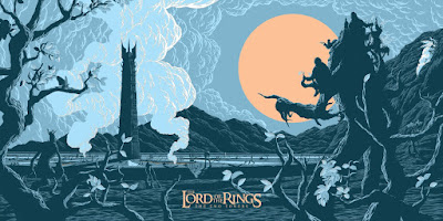 Lord of the Rings The Two Towers Screen Print by Mr. Florey & French Paper Art Club
