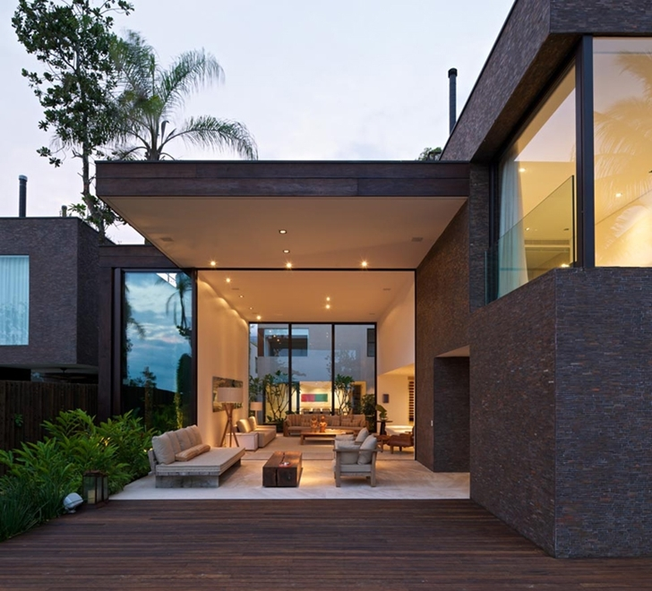 Lights in Modern beach house in Brazil