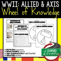 World War II, WWII,  Progressive Era, American History Activity, American History Interactive Notebook, American History Wheel of Knowledge