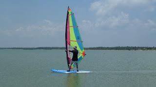 Windsurfen Kalpitiya Lagoon Sri Lanka