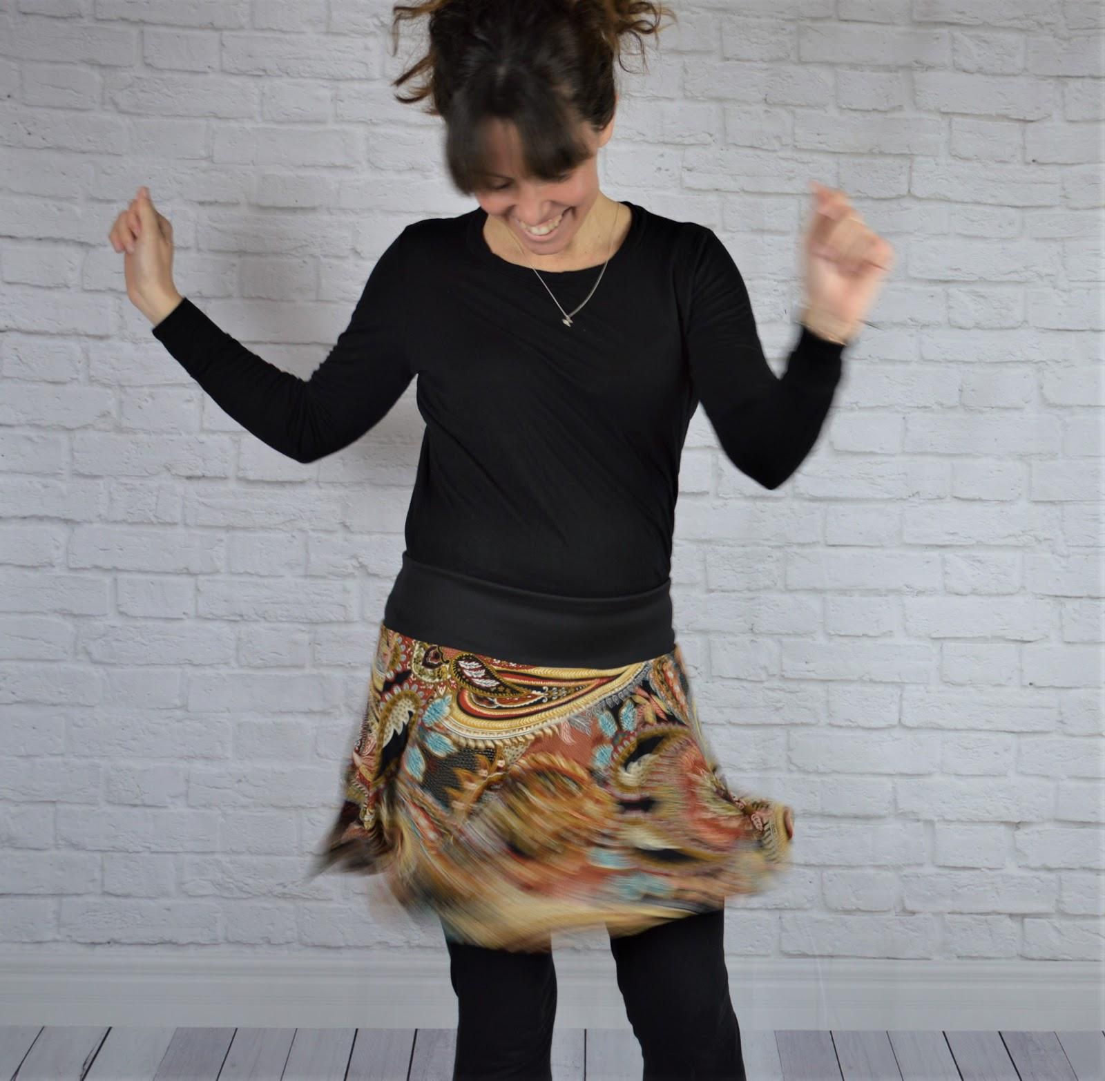 falda mujer handmade estampado étnico uVe