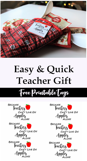 How to create a teacher appreciation gift with free gift tags