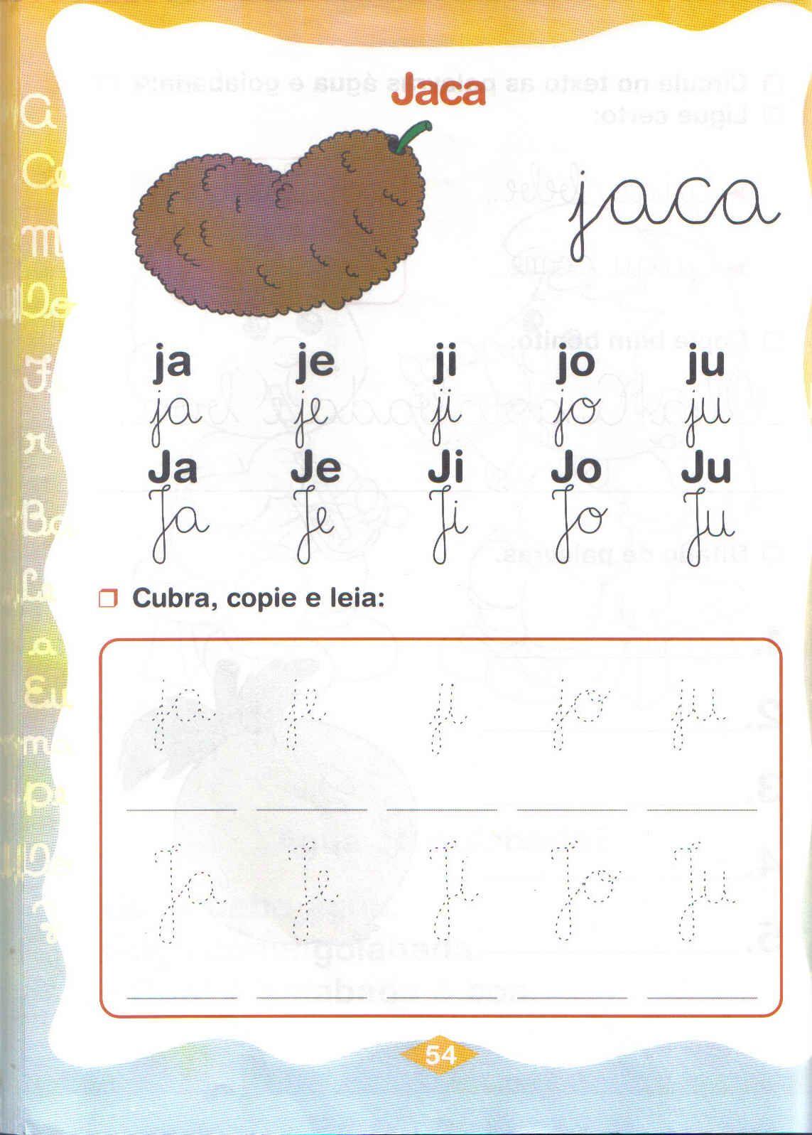 Slabas simples Ja Je Ji Jo Ju  Aprender e Brincar