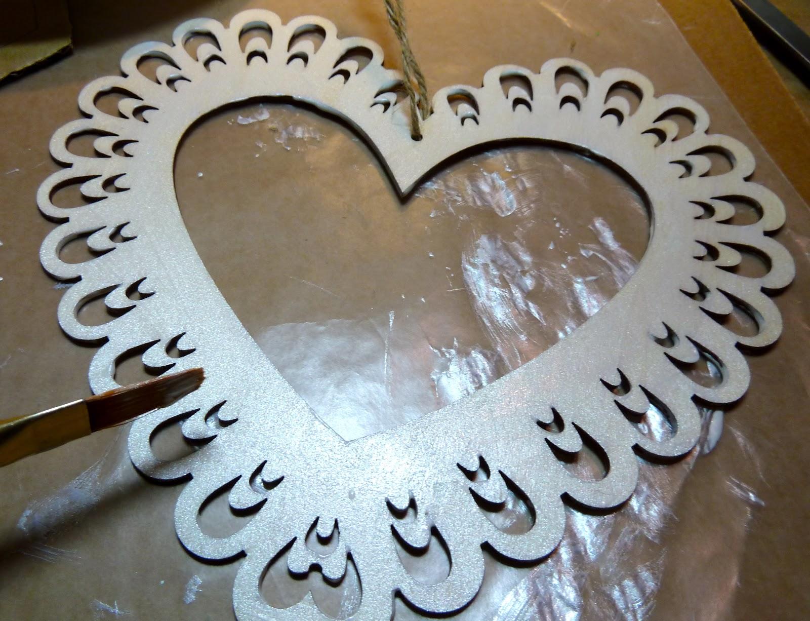 Make It Easy Crafts Valentine Decoupage Heart Plaque