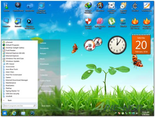 Windows 7 Aero Blue Lite Edition 2016 64 Bit (x64) Full Terbaru