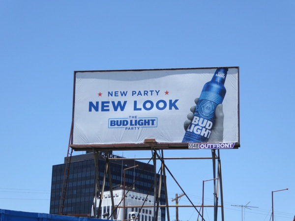 New Party New Look Bud Light Party billboard