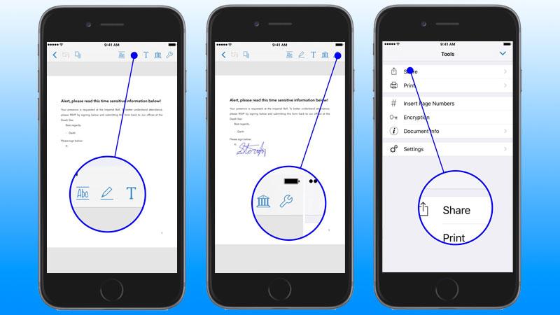 sign pdf on iphone
