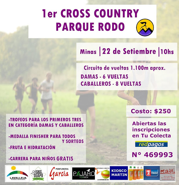 Cross country en parque Rodó de Minas (Lavalleja, 22/sep/2019)