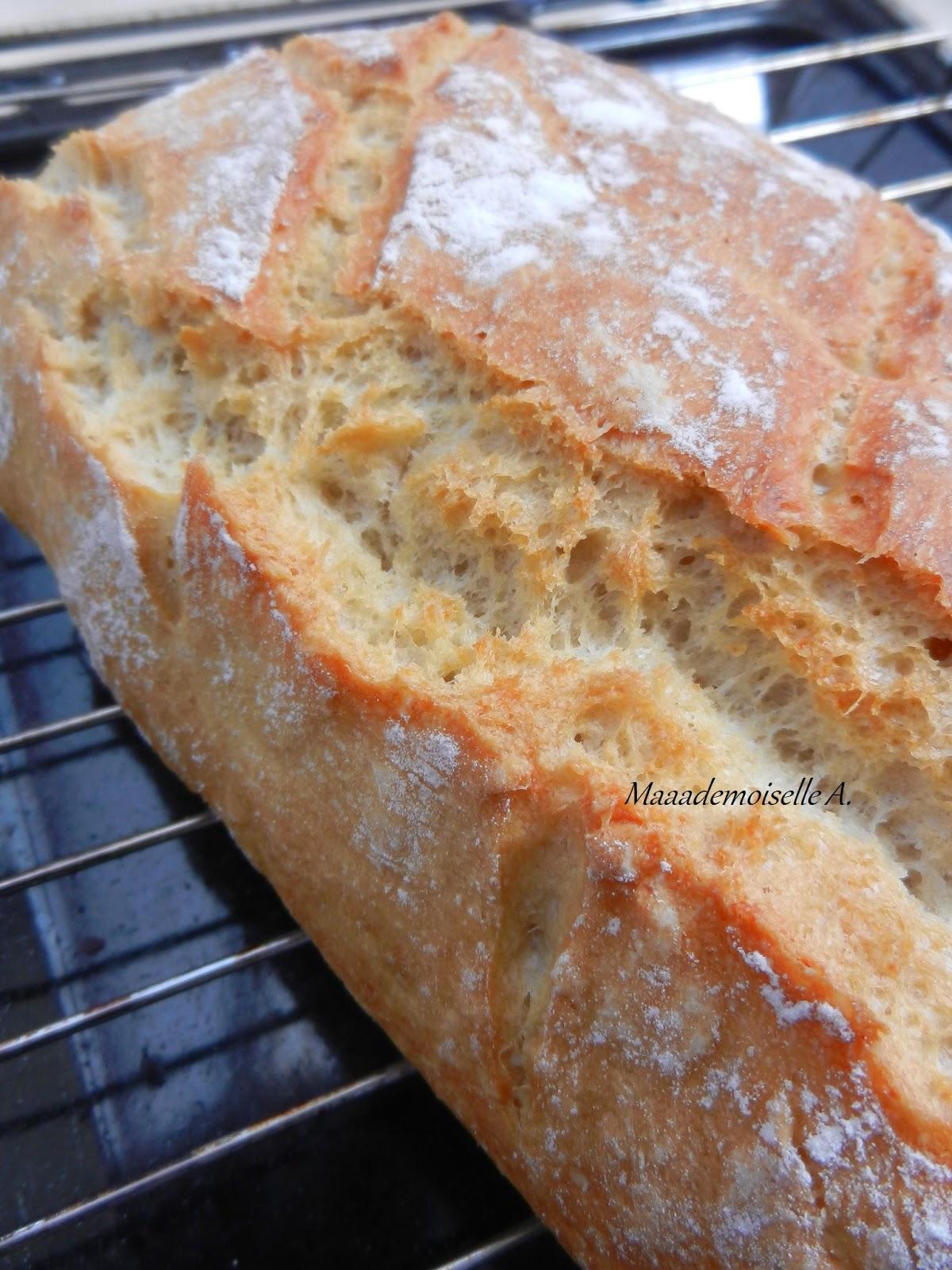 Maaademoiselle a faire son pain maison sans machine pain c 39 est facile recette - Machine a pain boulanger ...