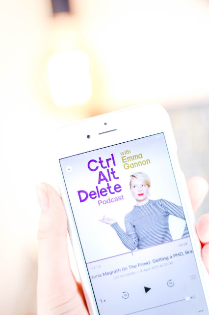 Podcasts to Listen to, Ctrl Alt Delete, Blogger Emma Ganon, Commute, Commuting, Podcast Recommendations, Podcasts for Bloggers, Girlboss
