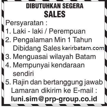 Lowongan Kerja PT. PRP Group Indonesia