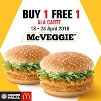 Beli 1 Percuma 1 - McVeggie | Promosi McDonald's