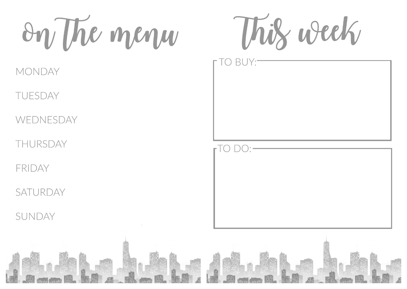 Southern In Law Free Weekly Meal Plan Amp To Do List Printables To Start Your Year Right