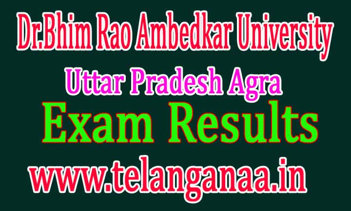 Dr.Bhim Rao Ambedkar University Uttar Pradesh Agra Exam Results Download